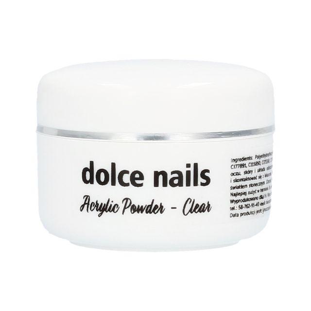 DOLCE NAILS Acrylic Powder Clear akryl przezroczysty 15g