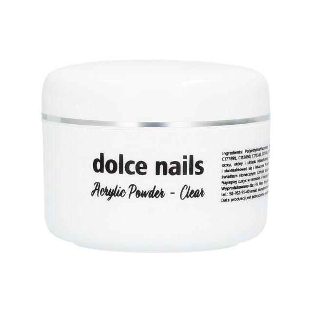 DOLCE NAILS Acrylic Powder Clear akryl przezroczysty 30g