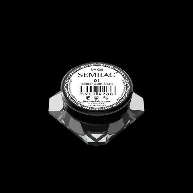 SEMILAC 01 Spider gum Black żel do zdobień 5g