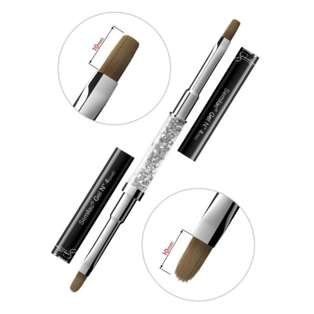 Semilac Gel Brush N4 flat + oval Pędzel do żelu