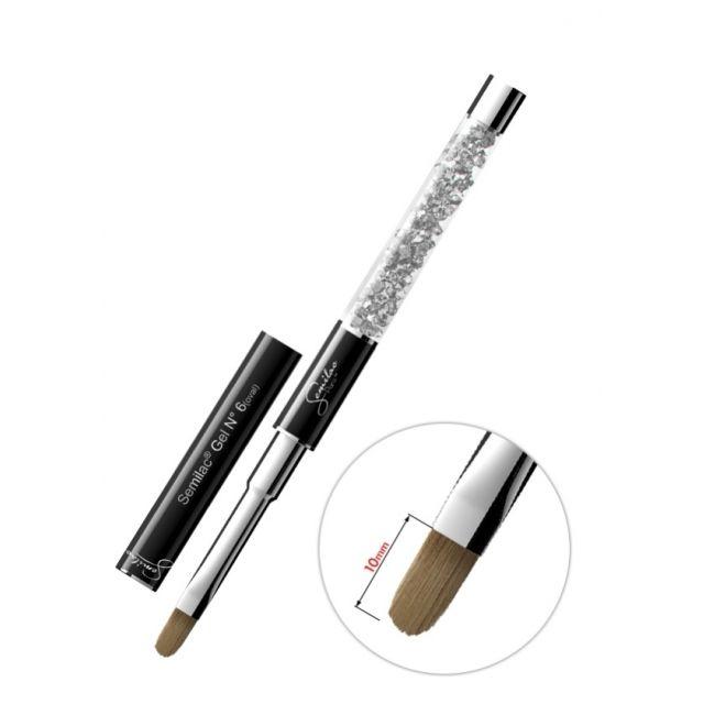 SEMILAC Gel Brush N6 oval Pędzel do żelu