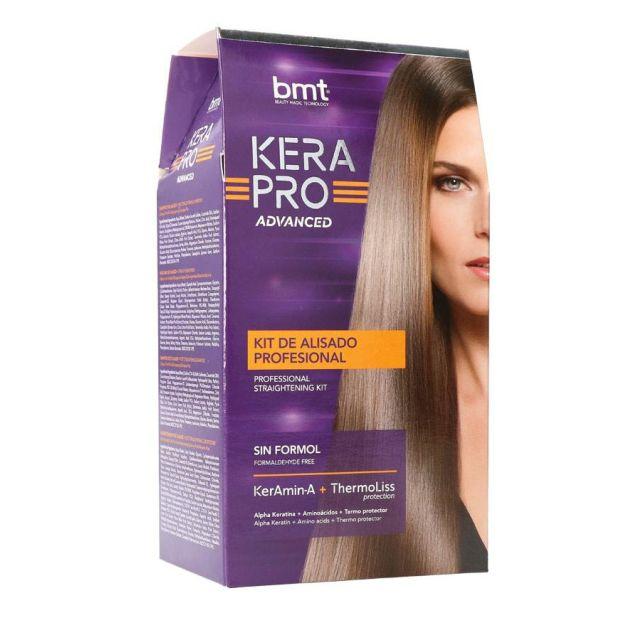 BMT KERAPRO ADVANCED Straightening Kit Zestaw do trwałego prostowania włosów