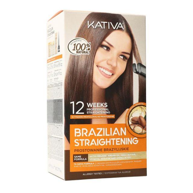 KATIVA Brazilian Straightening Zestaw do keratynowego prostowania włosów